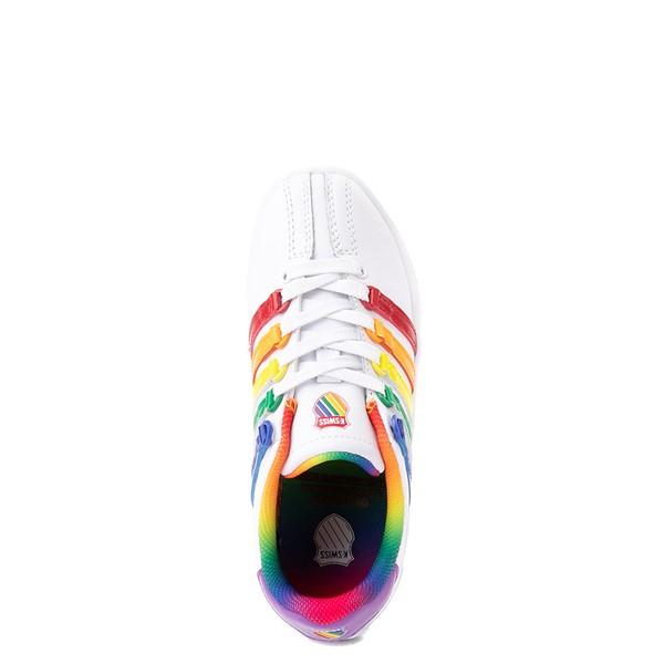alternate view K-Swiss Classic VN Athletic Shoe - Little Kid - White / RainbowALT4B
