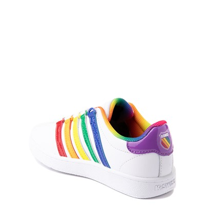 Alternate view of K-Swiss Classic VN Athletic Shoe - Little Kid - White / Rainbow