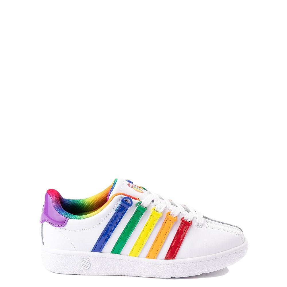 K-Swiss Classic VN Athletic Shoe - Little Kid - White / Rainbow