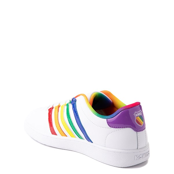 alternate view K-Swiss Classic VN Athletic Shoe - Big Kid - White / RainbowALT1