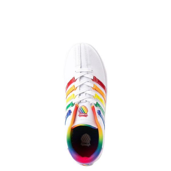 alternate view K-Swiss Classic VN Athletic Shoe - Big Kid - White / RainbowALT2