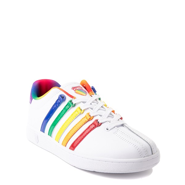 alternate view K-Swiss Classic VN Athletic Shoe - Big Kid - White / RainbowALT5