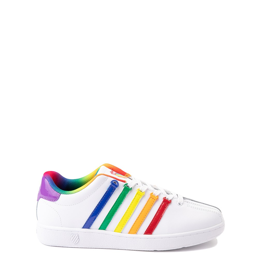 K-Swiss Classic VN Athletic Shoe - Big Kid - White / Rainbow