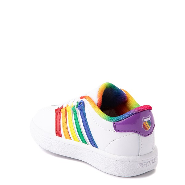 alternate view K-Swiss Classic VN Athletic Shoe - Baby / Toddler - White / RainbowALT1