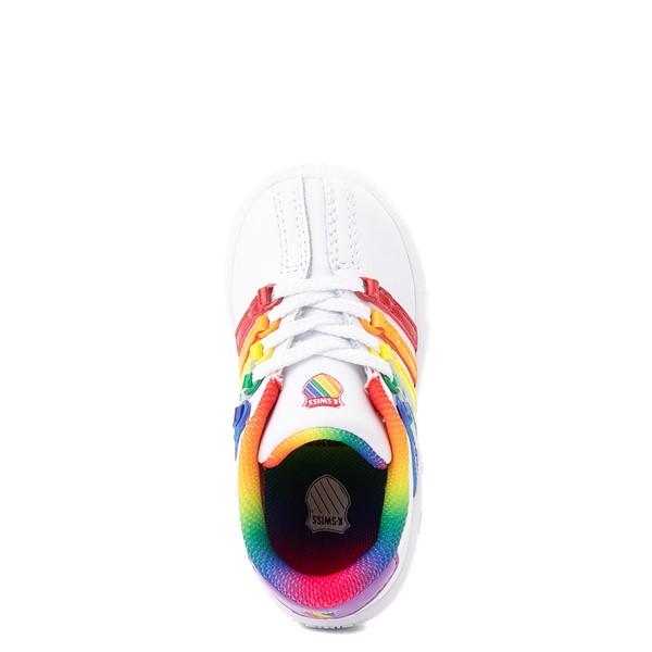 alternate view K-Swiss Classic VN Athletic Shoe - Baby / Toddler - White / RainbowALT2