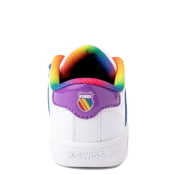 alternate view K-Swiss Classic VN Athletic Shoe - Baby / Toddler - White / RainbowALT2B