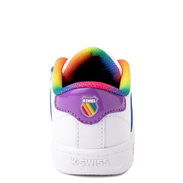 alternate view K-Swiss Classic VN Athletic Shoe - Baby / Toddler - White / RainbowALT4