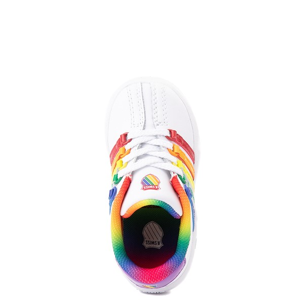 alternate view K-Swiss Classic VN Athletic Shoe - Baby / Toddler - White / RainbowALT4B