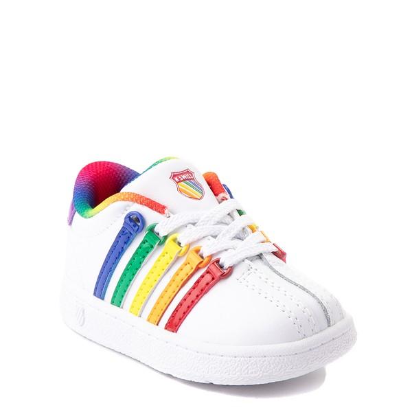 alternate view K-Swiss Classic VN Athletic Shoe - Baby / Toddler - White / RainbowALT5