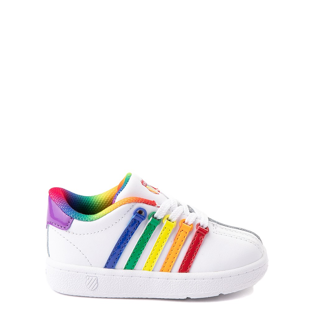 K-Swiss Classic VN Athletic Shoe - Baby / Toddler - White / Rainbow