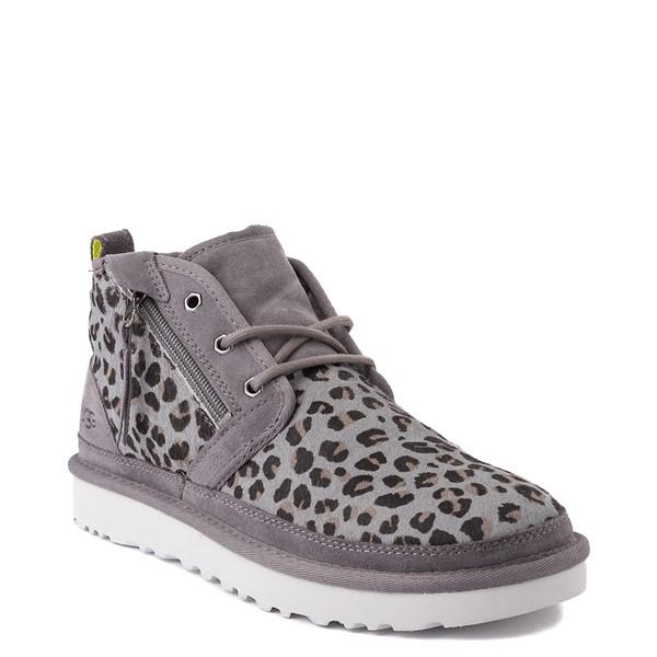 alternate view Mens UGG® Neumel Zip Casual Shoe - Gray LeopardALT1