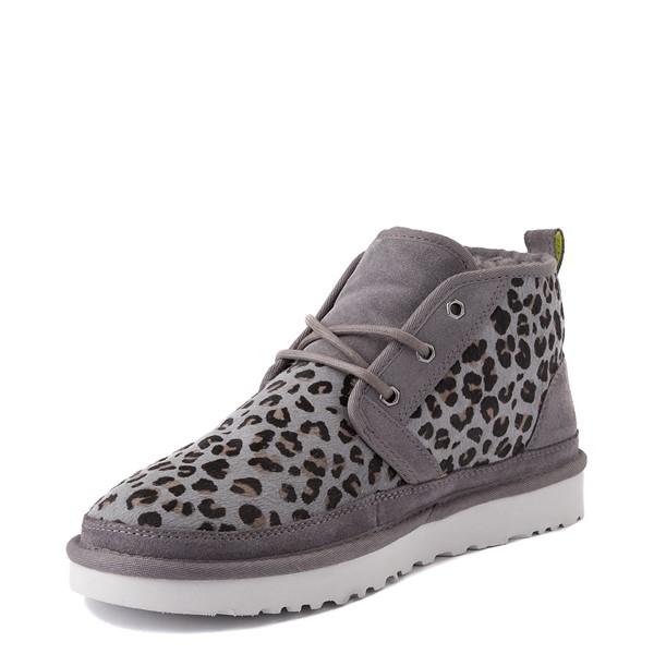 alternate view Mens UGG® Neumel Zip Casual Shoe - Gray LeopardALT3