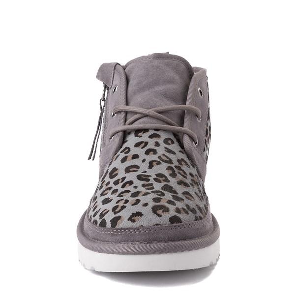 alternate view Mens UGG® Neumel Zip Casual Shoe - Gray LeopardALT4