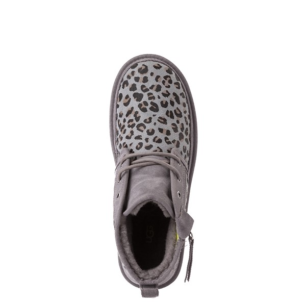 alternate view Mens UGG® Neumel Zip Casual Shoe - Gray LeopardALT4B