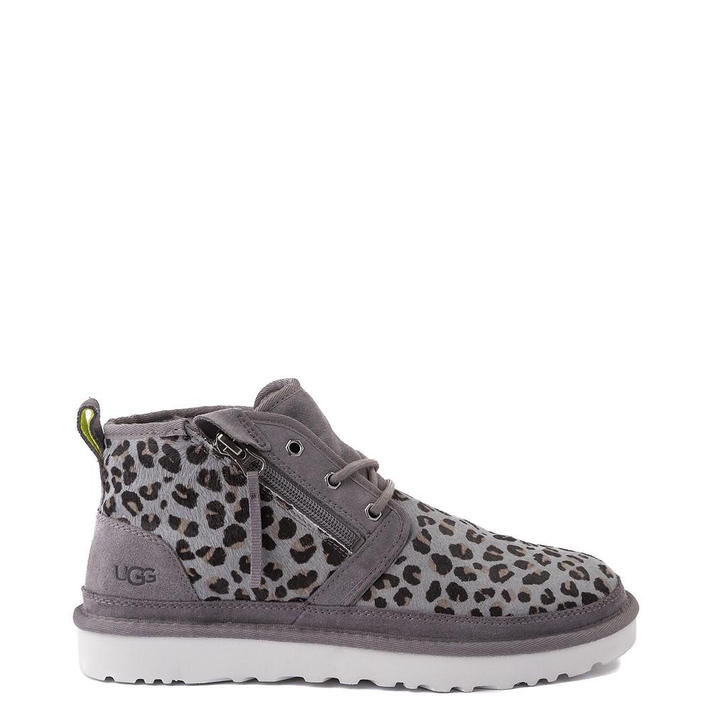 Mens UGG® Neumel Zip Casual Shoe - Gray Leopard