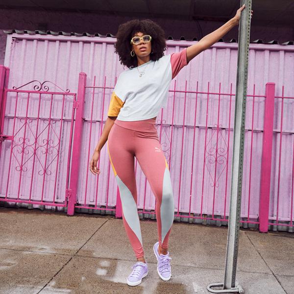 alternate view Womens Puma Suede Athletic Shoe - LavenderALT1B