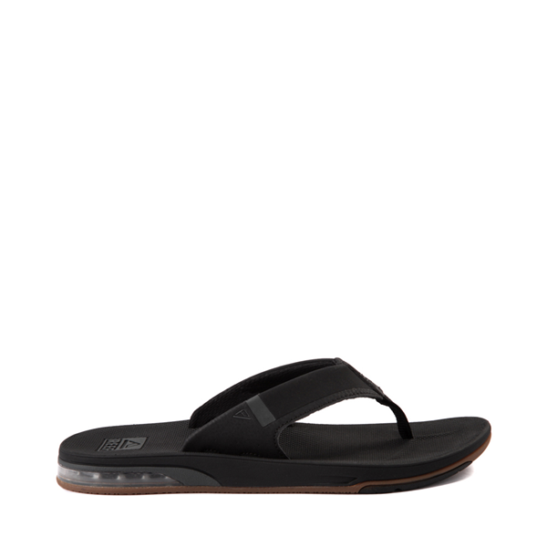 Main view of Mens Reef Fanning Low Sandal - Black