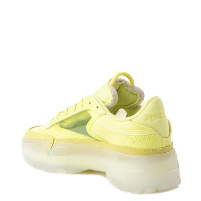Alternate view of Womens Reebok Club C Cardi Athletic Shoe - High Vis Green / Clear