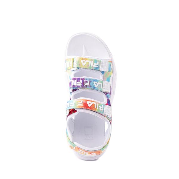 alternate view Fila Disruptor Sandal - Little Kid / Big Kid - White / Tie DyeALT2