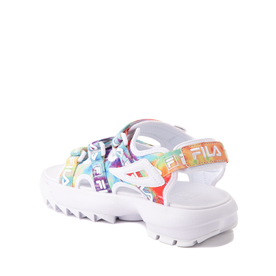 Alternate view of Fila Disruptor Sandal - Little Kid / Big Kid - White / Tie Dye