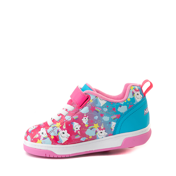 alternate view Heelys Dual Up X2 Skate Shoe - Little Kid / Big Kid - Neon Pink / Cyan / PurpleALT1