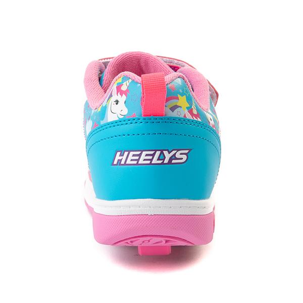 alternate view Heelys Dual Up X2 Skate Shoe - Little Kid / Big Kid - Neon Pink / Cyan / PurpleALT4