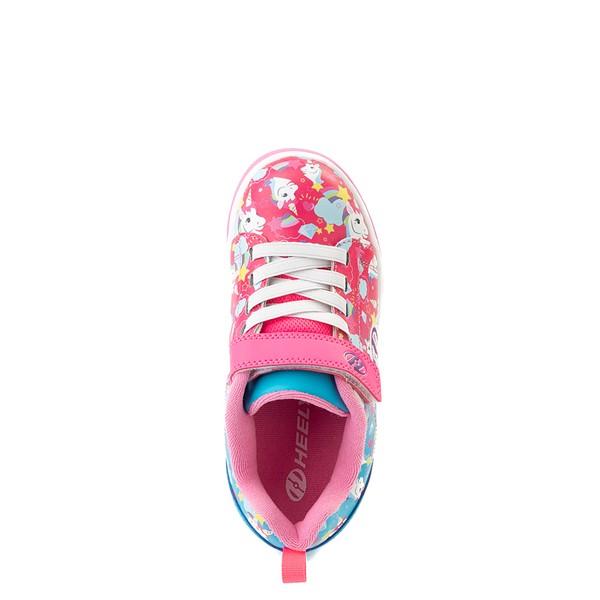 alternate view Heelys Dual Up X2 Skate Shoe - Little Kid / Big Kid - Neon Pink / Cyan / PurpleALT4B