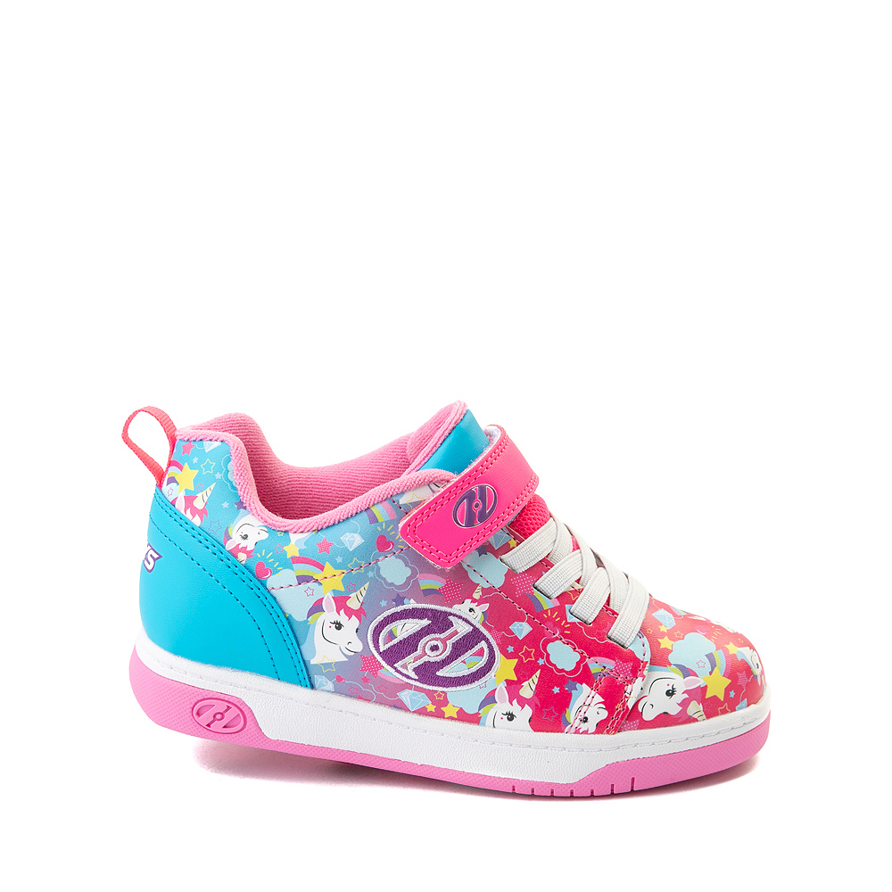 Heelys Dual Up X2 Skate Shoe - Little Kid / Big Kid - Neon Pink / Cyan / Purple