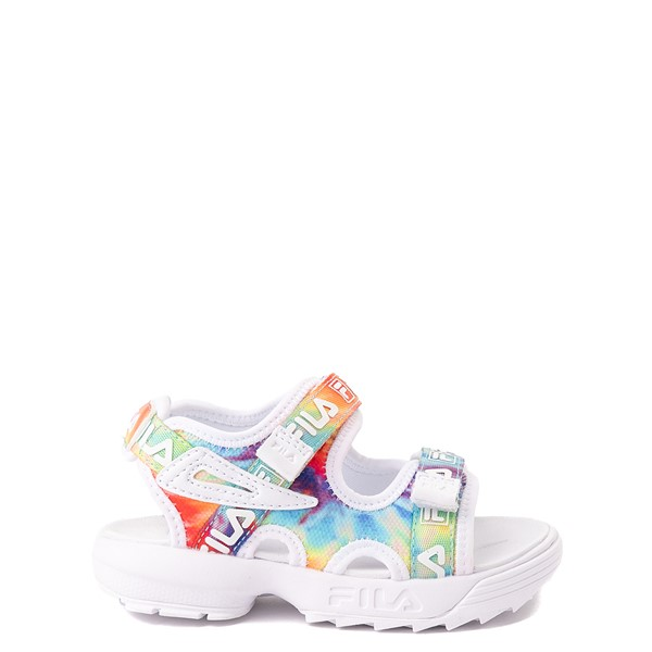 Main view of Fila Disruptor Sandal - Baby / Toddler - White / Tie Dye