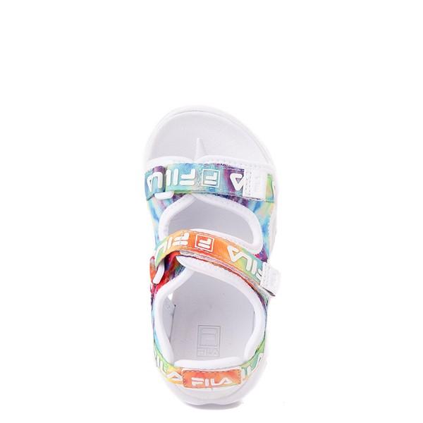 alternate view Fila Disruptor Sandal - Baby / Toddler - White / Tie DyeALT2