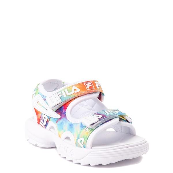 alternate view Fila Disruptor Sandal - Baby / Toddler - White / Tie DyeALT5