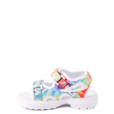 Alternate view of Fila Disruptor Sandal - Baby / Toddler - White / Tie Dye