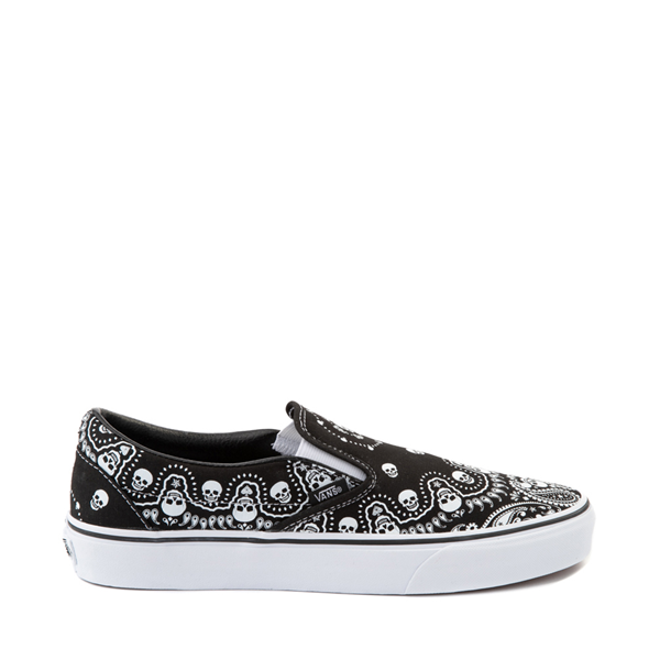 Main view of Vans Slip On Bandana Skate Shoe - Black