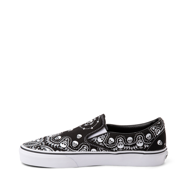 alternate view Vans Slip On Bandana Skate Shoe - BlackALT1