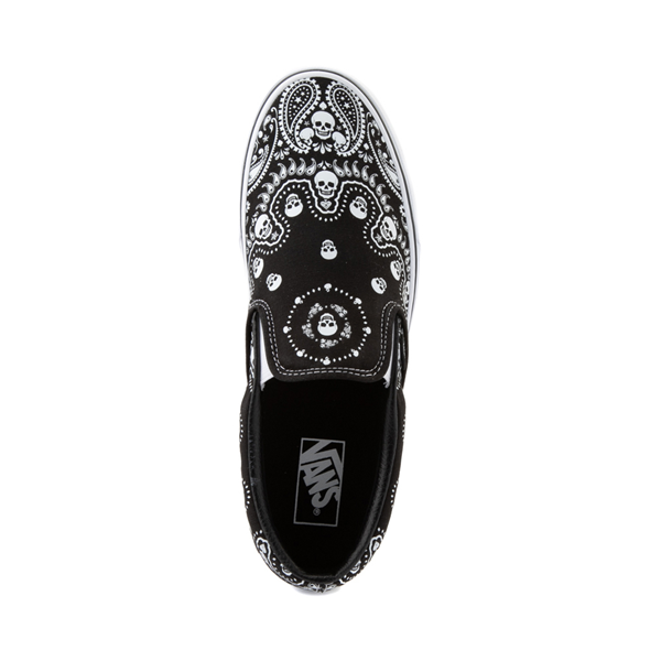 alternate view Vans Slip On Bandana Skate Shoe - BlackALT2