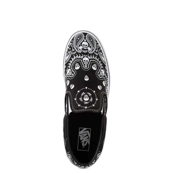 alternate view Vans Slip On Bandana Skate Shoe - BlackALT4B