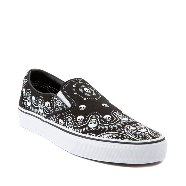 alternate view Vans Slip On Bandana Skate Shoe - BlackALT5