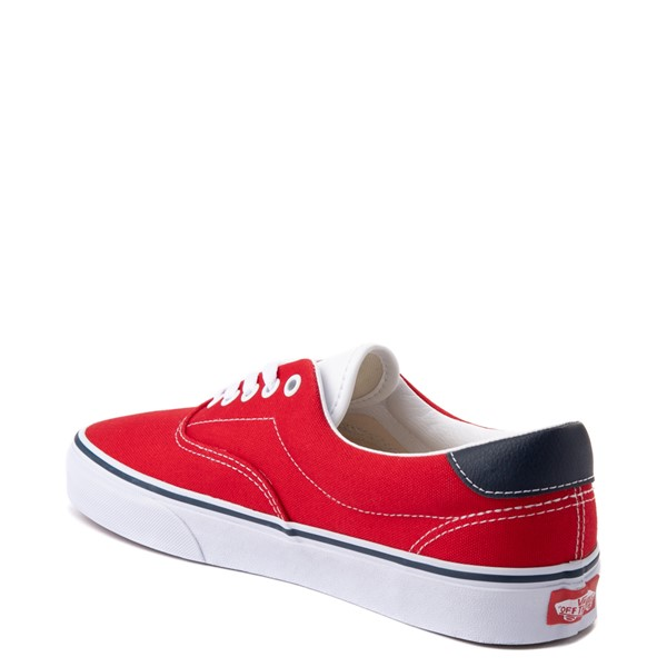 alternate view Vans C&L Era 59 Skate Shoe - Red / NavyALT1
