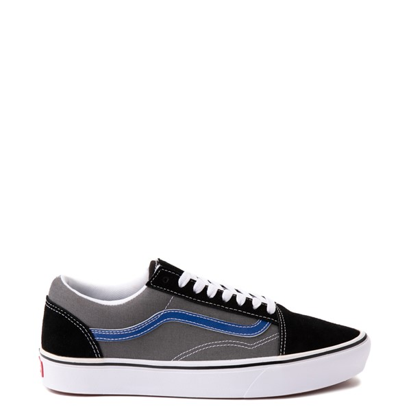 Main view of Vans Old Skool ComfyCush® Skate Shoe - Black / Pewter / Blue