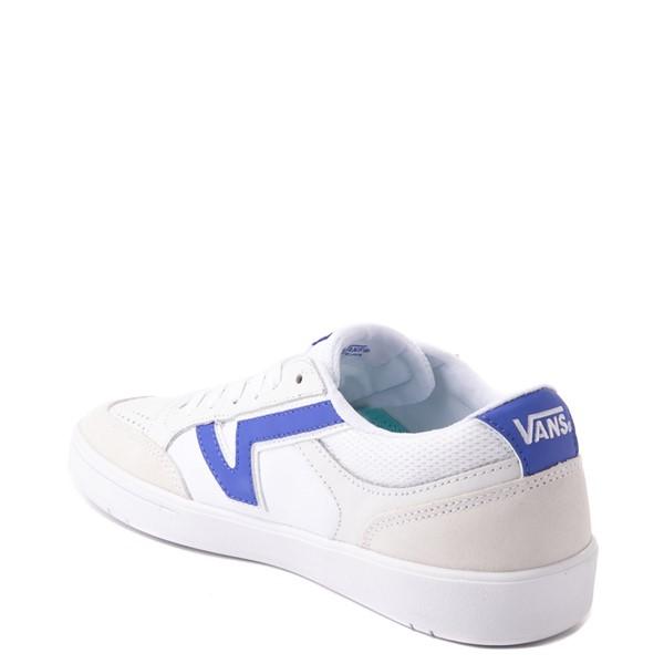 alternate view Vans Retro Sport Lowland ComfyCush® Skate Shoe - White / Baja BlueALT1