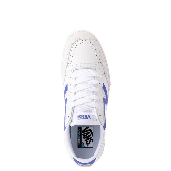 alternate view Vans Retro Sport Lowland ComfyCush® Skate Shoe - White / Baja BlueALT2