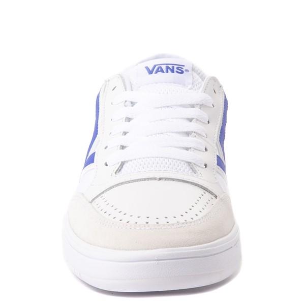alternate view Vans Retro Sport Lowland ComfyCush® Skate Shoe - White / Baja BlueALT4
