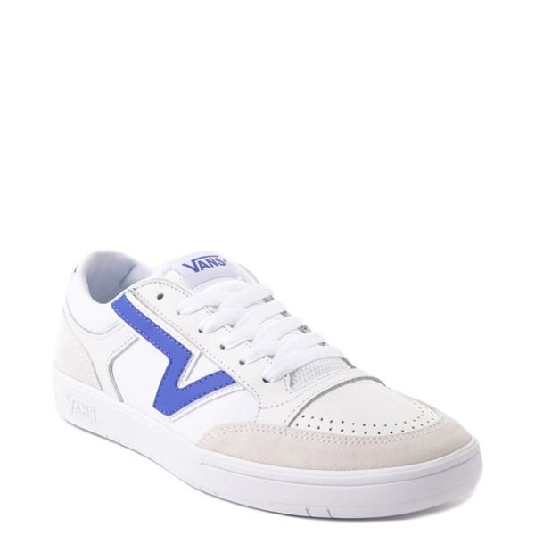 alternate view Vans Retro Sport Lowland ComfyCush® Skate Shoe - White / Baja BlueALT5