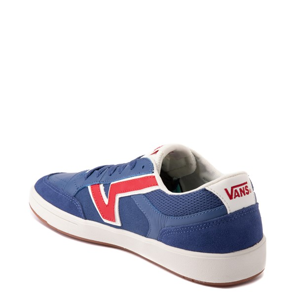 alternate view Vans Retro Sport Lowland ComfyCush® Skate Shoe - Navy / RedALT1