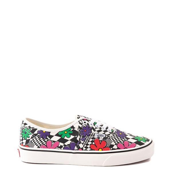 Vans Authentic Skate Shoe - Floral Checkerboard / Marshmallow