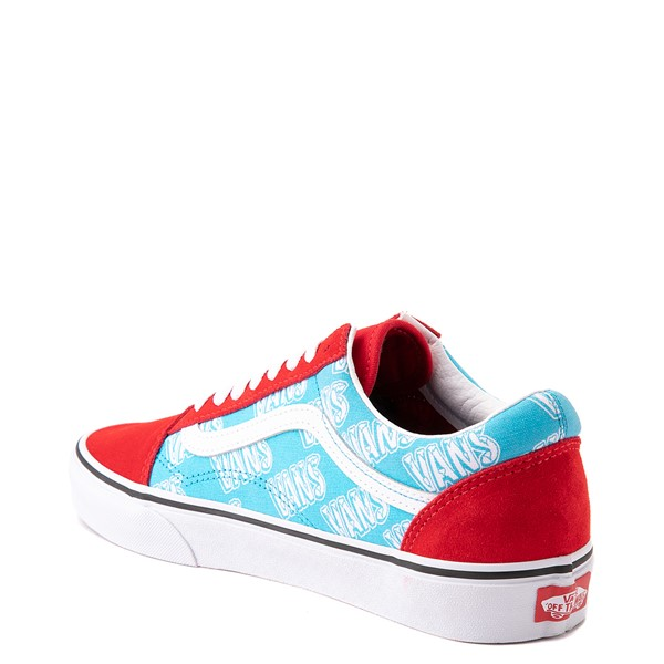 alternate view Vans Old Skool Retro Mart Skate Shoe - Red / BlueALT1