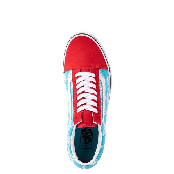 alternate view Vans Old Skool Retro Mart Skate Shoe - Red / BlueALT2