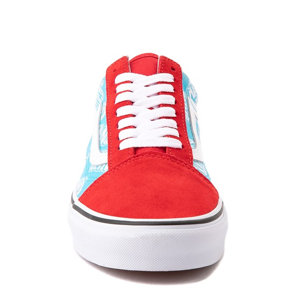 alternate view Vans Old Skool Retro Mart Skate Shoe - Red / BlueALT4