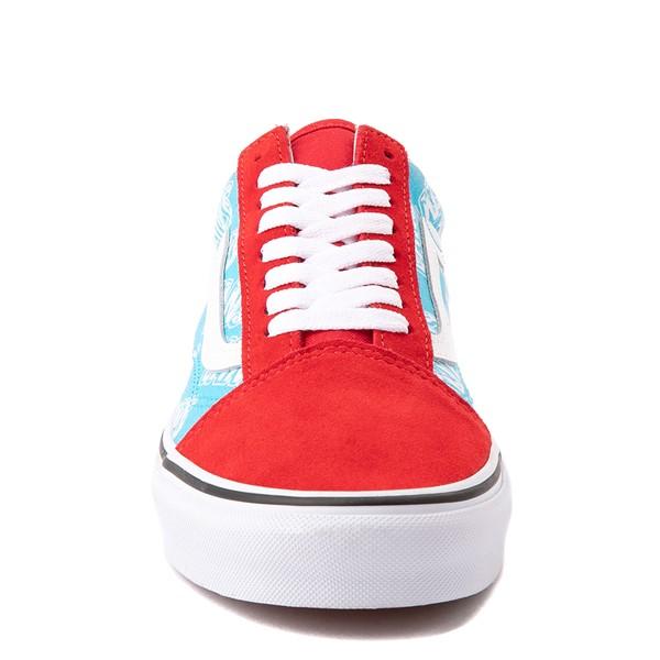 alternate view Vans Old Skool Retro Mart Skate Shoe - Red / BlueALT4