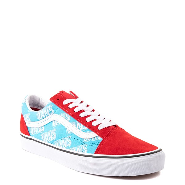 alternate view Vans Old Skool Retro Mart Skate Shoe - Red / BlueALT5